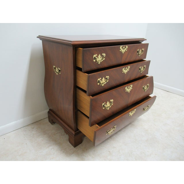 Wood French Country Weiman Serpentine Bachelors Chest For Sale - Image 7 of 13