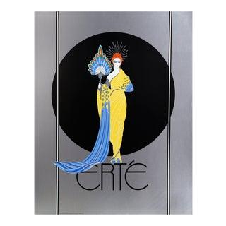 """1980s Erté, """"Athena"""", Art Deco Screenprint Poster For Sale"""