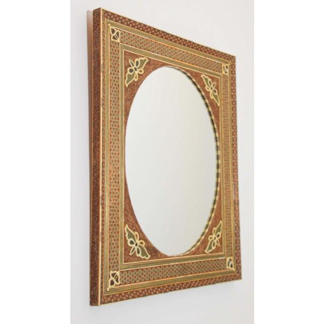 Middle Eastern Moorish-Style Sadeli Mosaic Mirror For Sale - Image 12 of 13