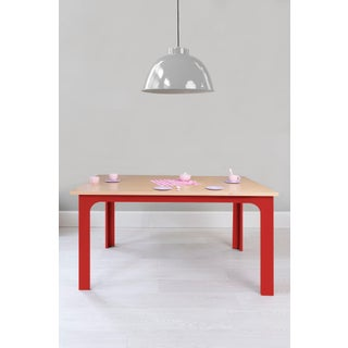 "Craft Kids 42"" Table in Birch With Red Finish Preview"