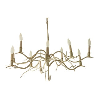 Iron Tree Branch Chandelier For Sale