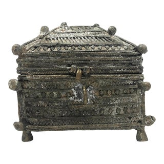Antique Indian Dhorka Cast Bronze Box For Sale