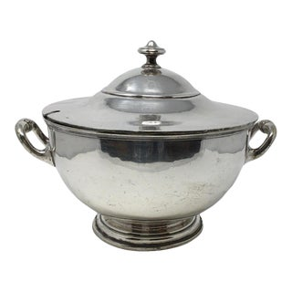 Vintage Elkington Silver Plate Silver Soldered Soup Tureen For Sale