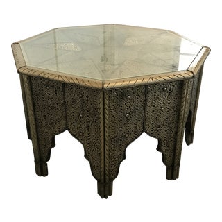 Moroccan Silver Coffee Table For Sale