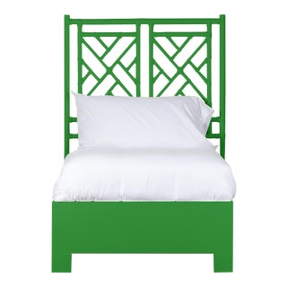 Chippendale Bed Twin - Bright Green For Sale