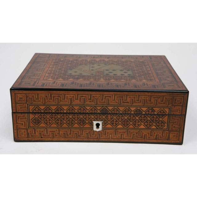 Brown 19th Century English Game Box For Sale - Image 8 of 11