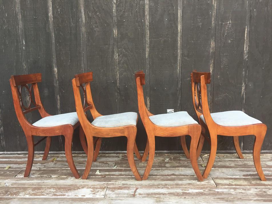 Mahogany Tell City Chair Co. Chairs   Set Of 4   Image 5 Of 11