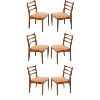 Danish Modern Maple Side Chairs- Set of 6 For Sale