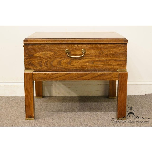 20th Century Contemporary Lane Furniture Bookmatched Walnut End Table For Sale - Image 10 of 13