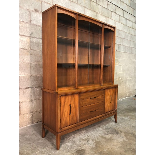 Glass Mid-Century Modern China Cabinet / Display Case / Bookcase For Sale - Image 7 of 9