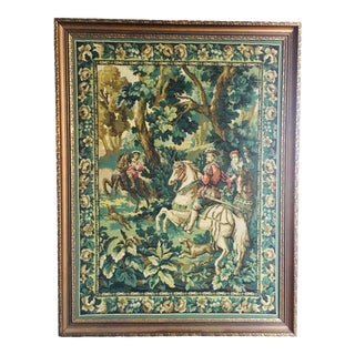 French Needlepoint Tapestry, Framed For Sale