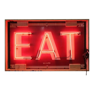 "Art Deco ""Eat"" Neon Sign"