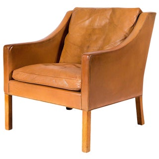Børge Mogensen Model No. 2207 Leather Lounge Chair For Sale