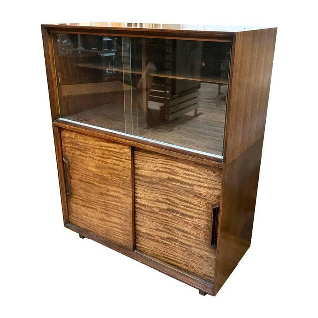 Mid-Century Modern 1950s Mid-Century Modern Milo Baughman for Drexel Perspective Mindoro Wood China Hutch For Sale - Image 3 of 12