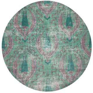 """Nicolette Mayer Byzantine Jewel Green 16"""" Round Pebble Placemat, Set of 4 Preview"""