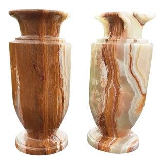 Dorato De Oro Italian Vases/Urns - a Pair For Sale