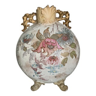 Antique 1860 Samuel Moore & Co. Chinoiserie Moon Vase For Sale