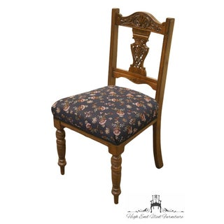 1940's Antique Jacobean Gothic Revival Walnut Dining Side Chair Preview