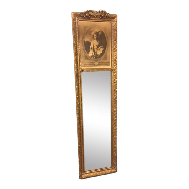 Antique Wall Trumeau Mirror For Sale