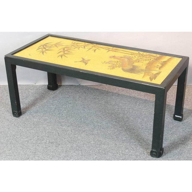 Chinoiserie Lacquered Cocktail Table For Sale - Image 10 of 11