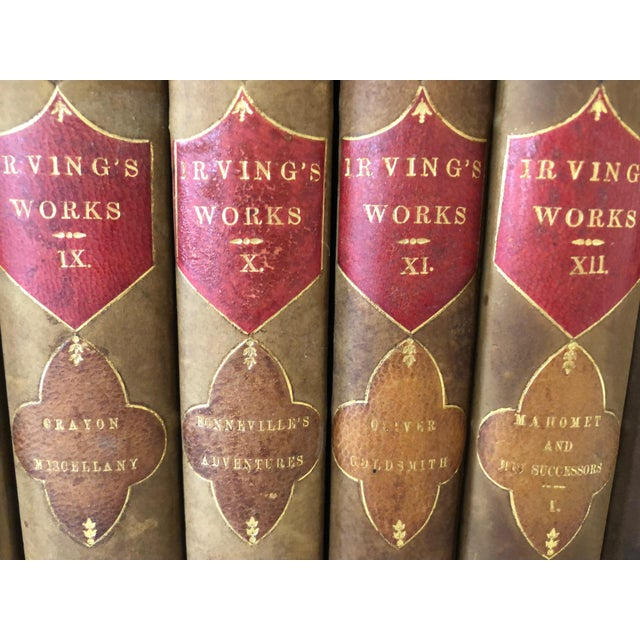 Mid 19th Century Irvings Works, 15 Volume Set, 1853 For Sale - Image 5 of 11