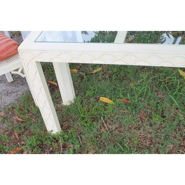 Henredon Chinoiserie Fretwork Console Table For Sale In West Palm - Image 6 of 9