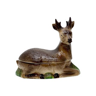 French Majolica Deer Patè Tureen