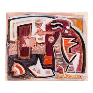 """Composition A301"" by Werner Drewes, 1946 For Sale"
