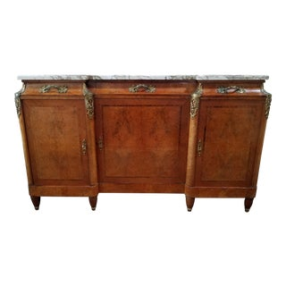 20th Century French Marble Top Sideboard For Sale