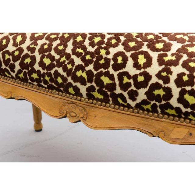 Yellow Louis XV Style Upholstered Bench For Sale - Image 8 of 10