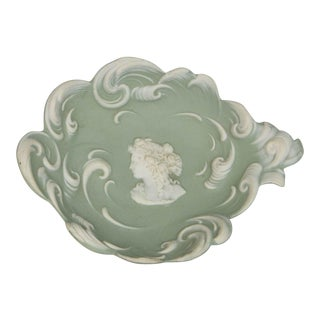 Celadon Jasperware Dish For Sale