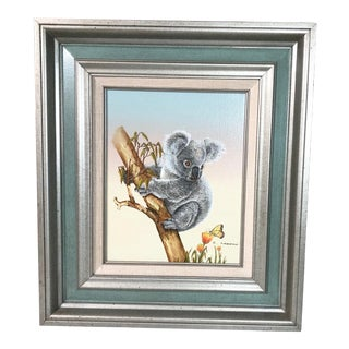 Framed Koala Painting For Sale