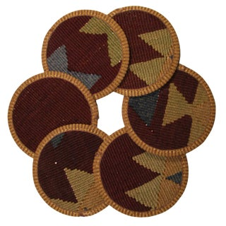 Rug & Relic Kilim Coasters Set of 6 - Minne