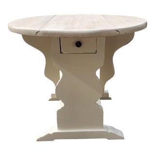 Farmhouse Dropleaf Side Table For Sale