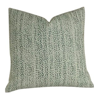 Quadrille Alan Campbell Mojave Teal Pillow Cover For Sale