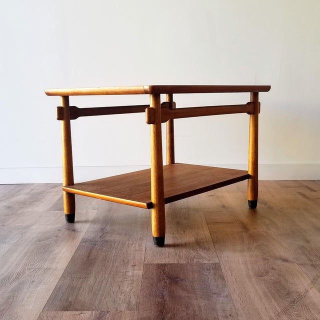 1960s 1960s Lane Two-Tiered Side Table With Mosaic Tile Inlay For Sale - Image 5 of 13