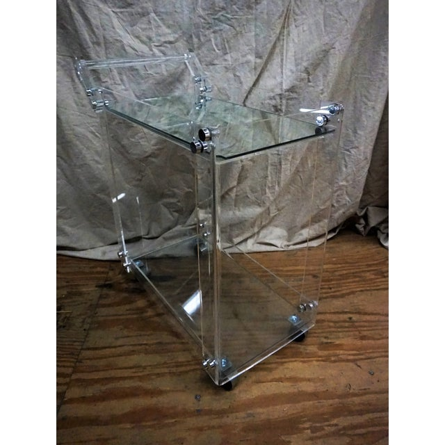 Lucite Bar Cart - Image 4 of 5