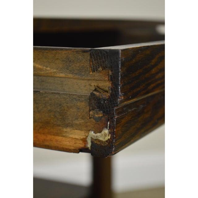 Arts & Crafts j.k. Rishel Antique Arts & Crafts Mission Oak Library Table Desk No. 811 For Sale - Image 3 of 13