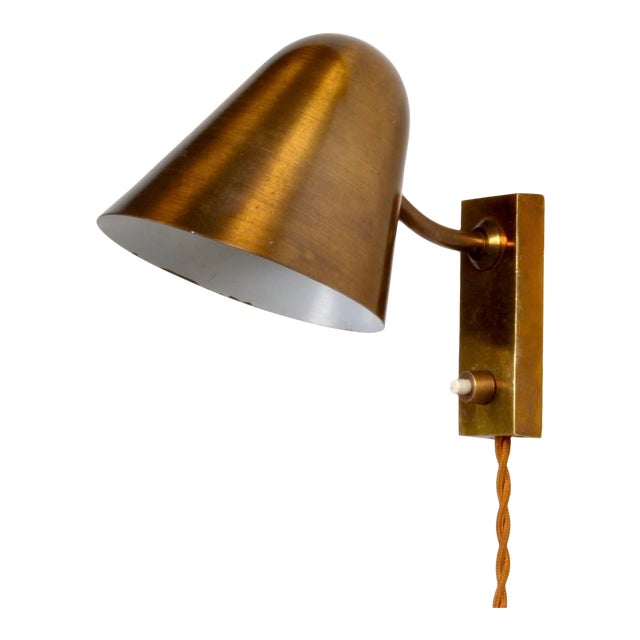 Brass Wall Lamp by Jacques Biny France 1950s For Sale
