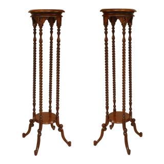19th Century English Swirl Design Pedestals - a Pair For Sale