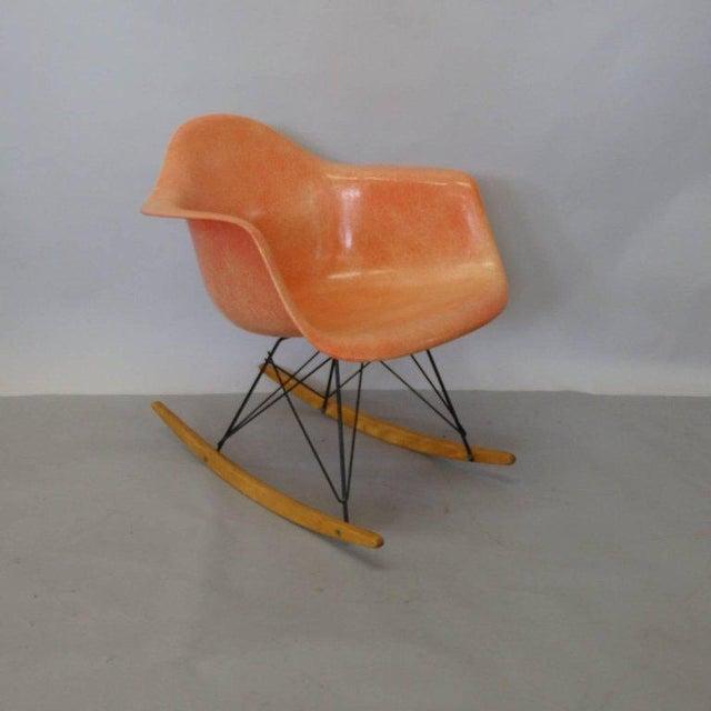 Mid-Century Modern Best Eames Rar Herman Miller Zenith Rope Edge Rocking Chair For Sale - Image 3 of 8
