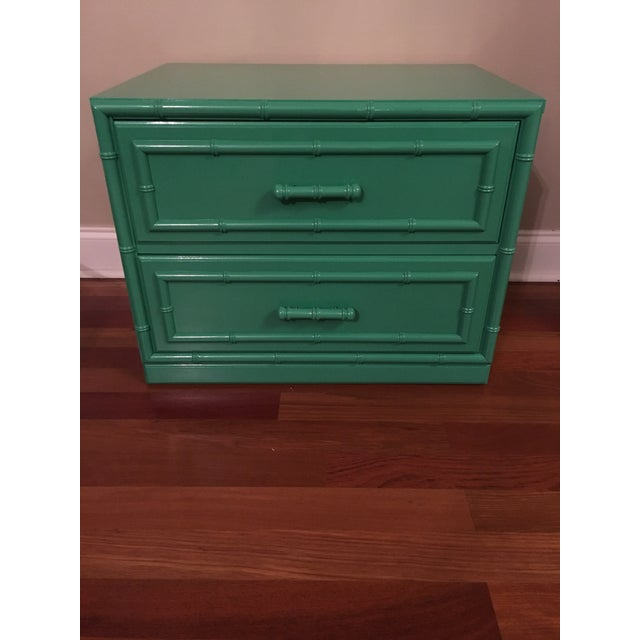 Dixie Furniture Lacquered Faux Bamboo Chest - Image 7 of 7
