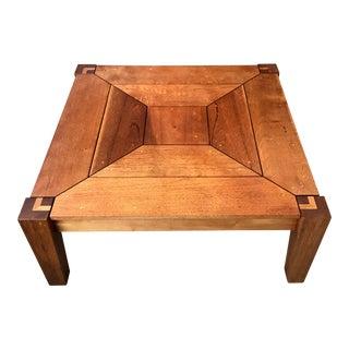 Rob Edley Welborn Spanish Cedar Prototype Square Coffee Table For Sale
