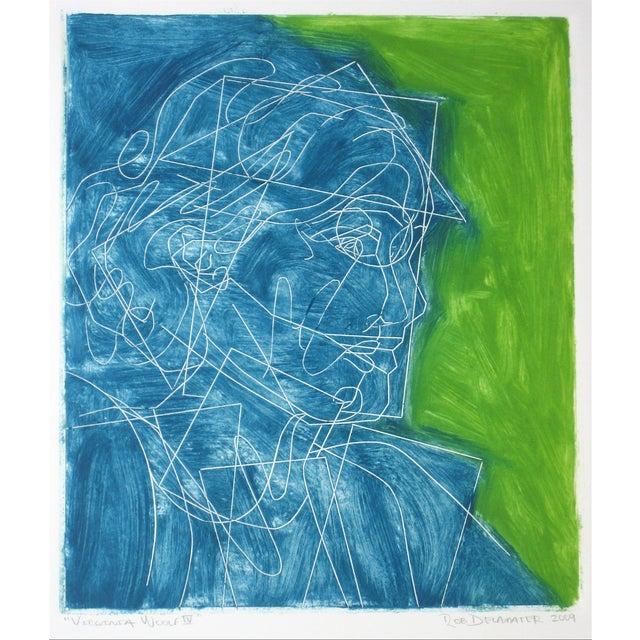 "Rob Delamater ""Virginia Woolf IV"" Block Print - Image 1 of 2"