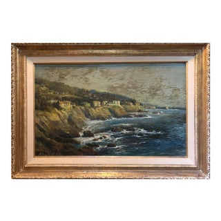 Original 1933 Oil on Canvas of Laguna Beach Cliffs by Andreas Roth (1871-1949) For Sale