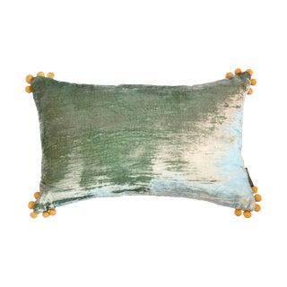 Omni Sea Foam Silk Velvet Lumbar Pillow