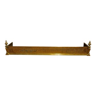 Late 19th Century English Brass Fender For Sale