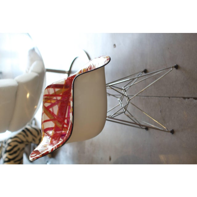 "Mauro Oliveira Decorated Chair ""Summer"" For Sale - Image 4 of 8"