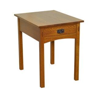 Stickley Mission Collection Rectangular 1 Drawer Oak End Table