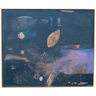 Louise Odes Neaderland Abstract Oil Painting, 1969 For Sale